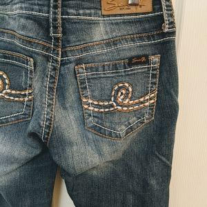 2/$30 Seven Bootcut Jeans Rhinestone Detail 28